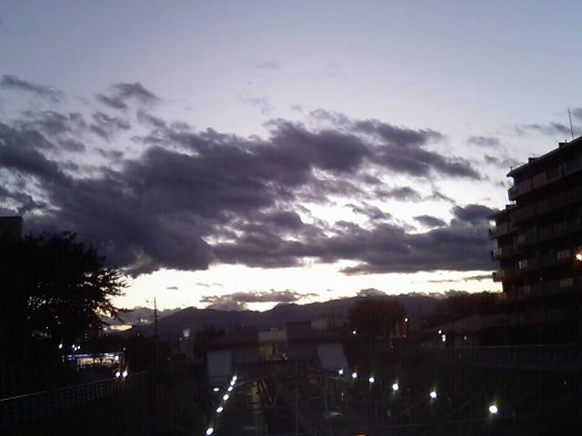 丹沢に日が沈む