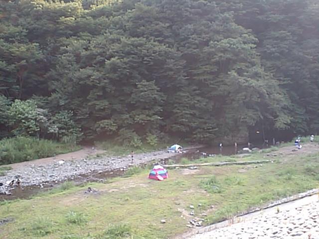 早戸川で水遊び