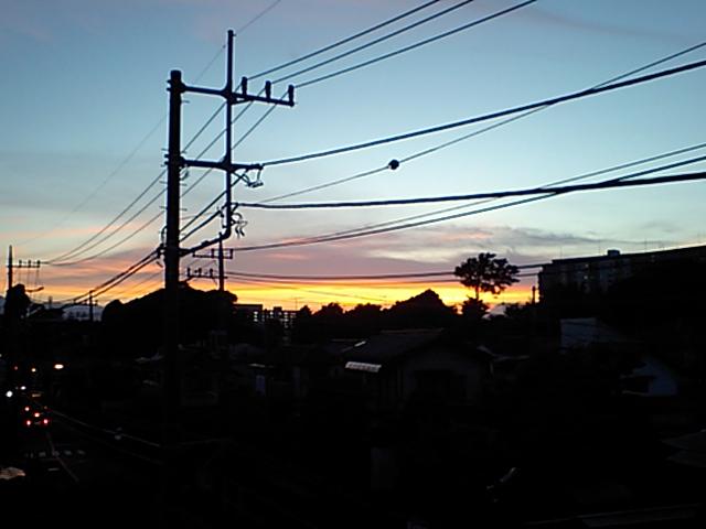 夕陽が綺麗な時は