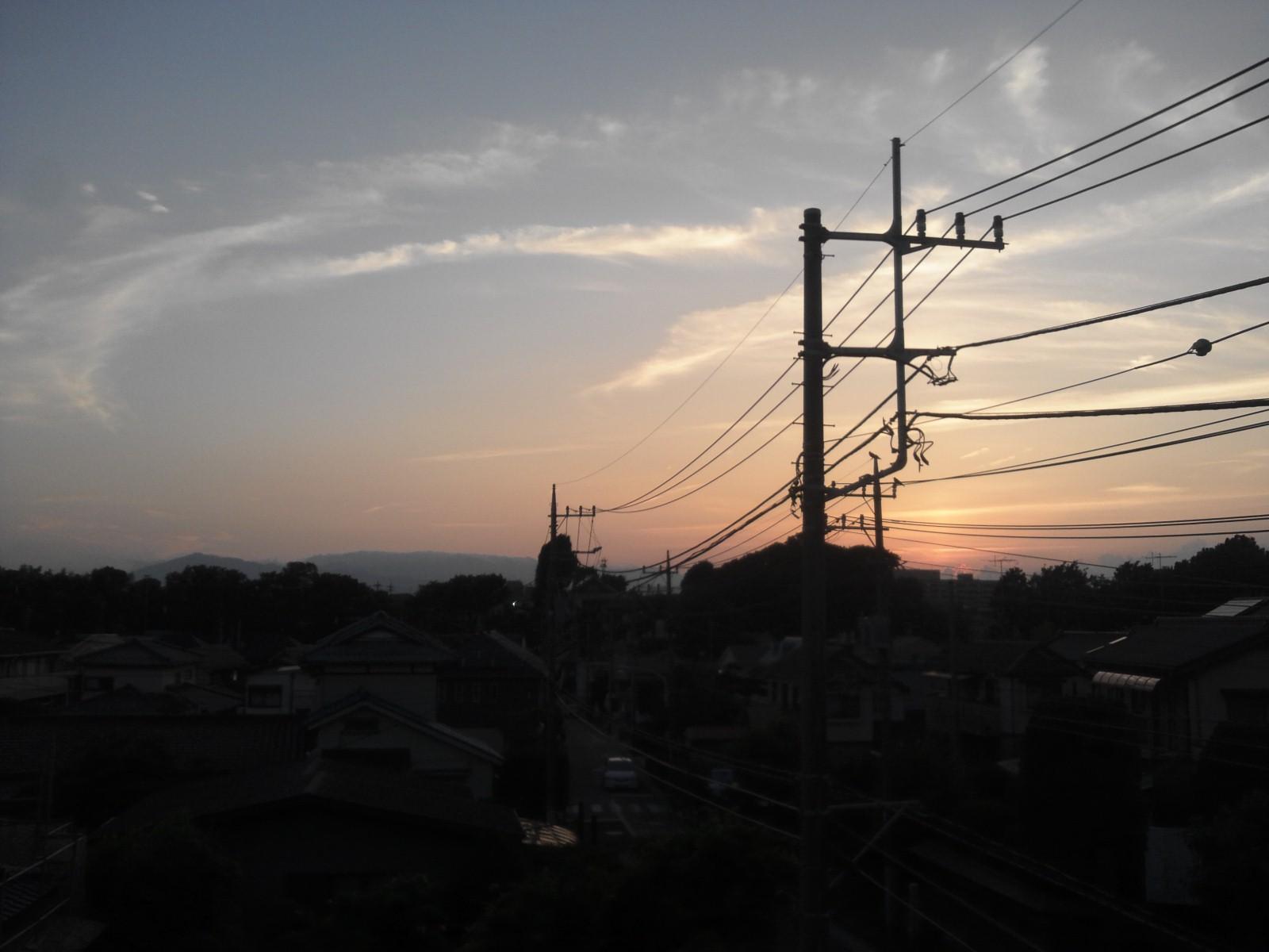 夏休み最後の夕焼け