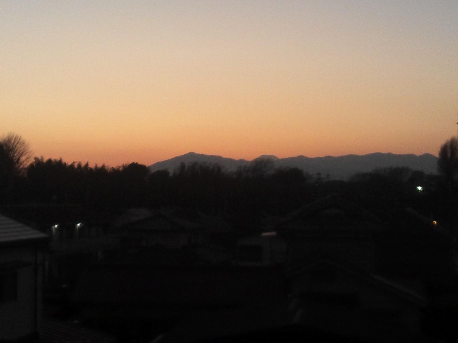 2013最後の夕焼け