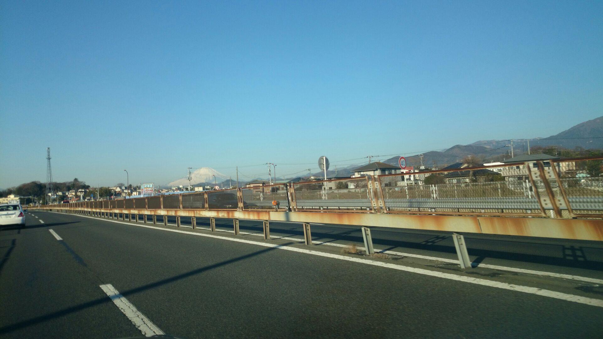 富士山を見ながらの通勤
