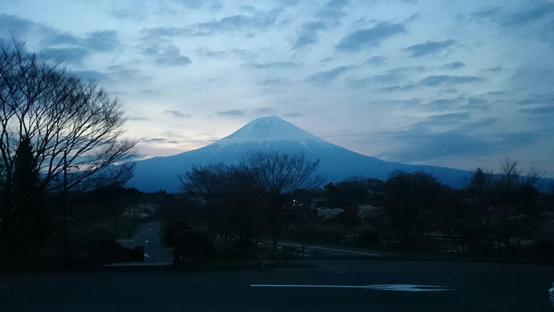 田貫湖で富士山