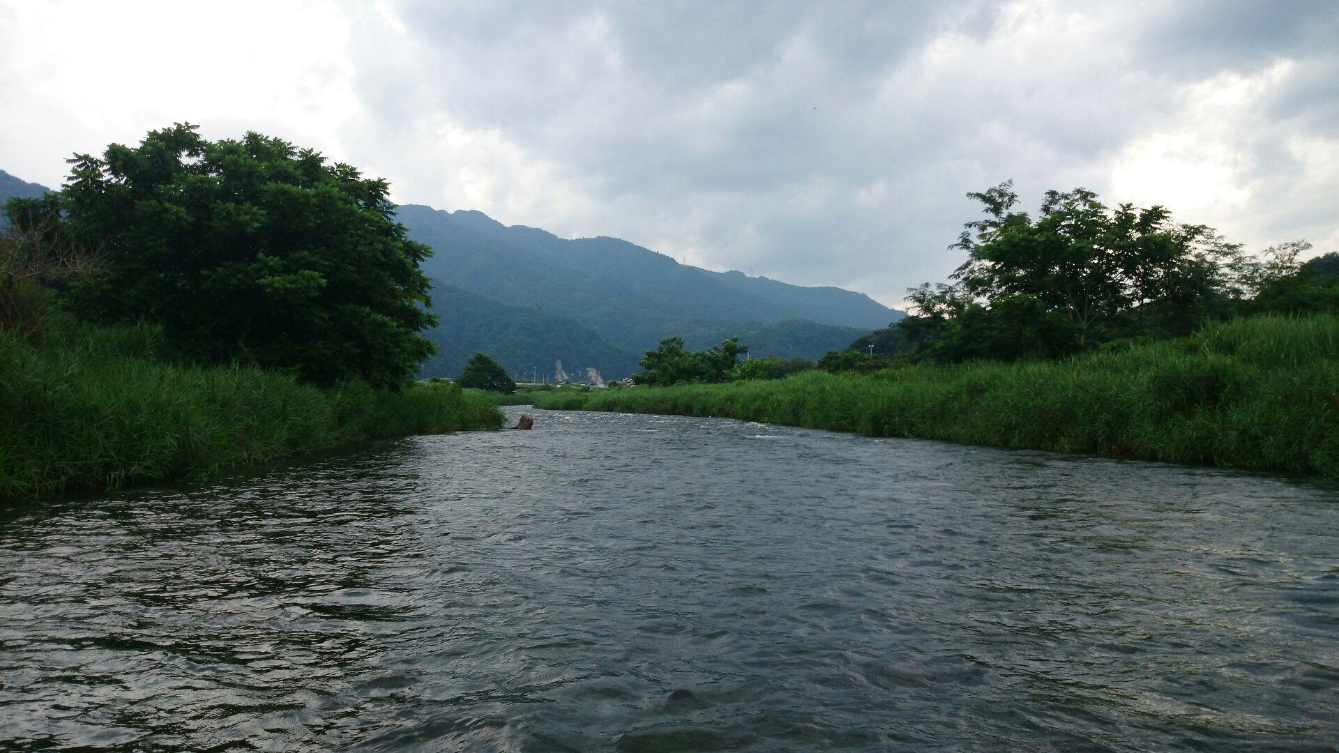 近所の川にて