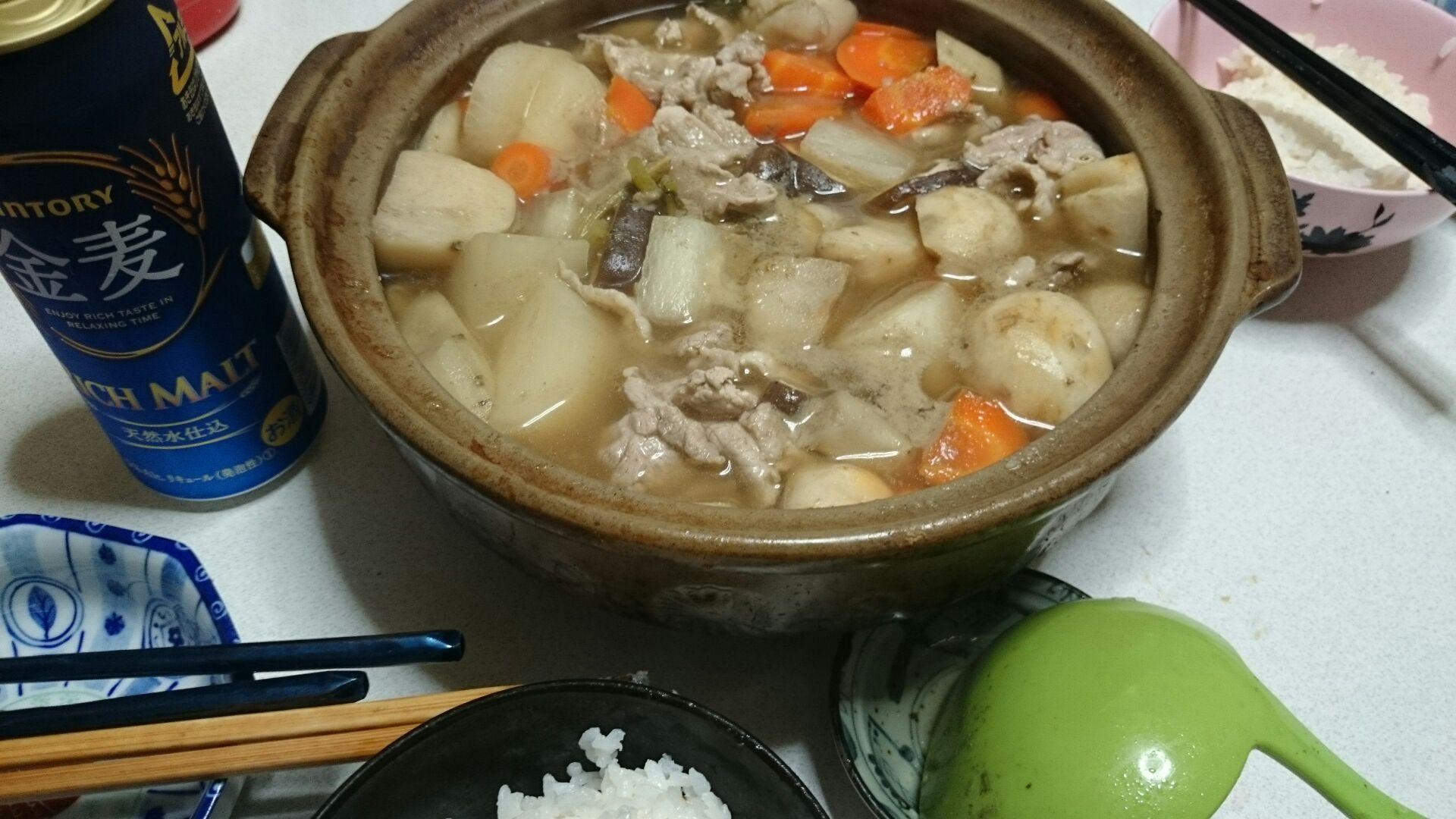 根菜と豚バラの煮物