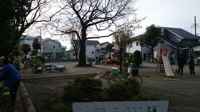 地域活動の公園清掃