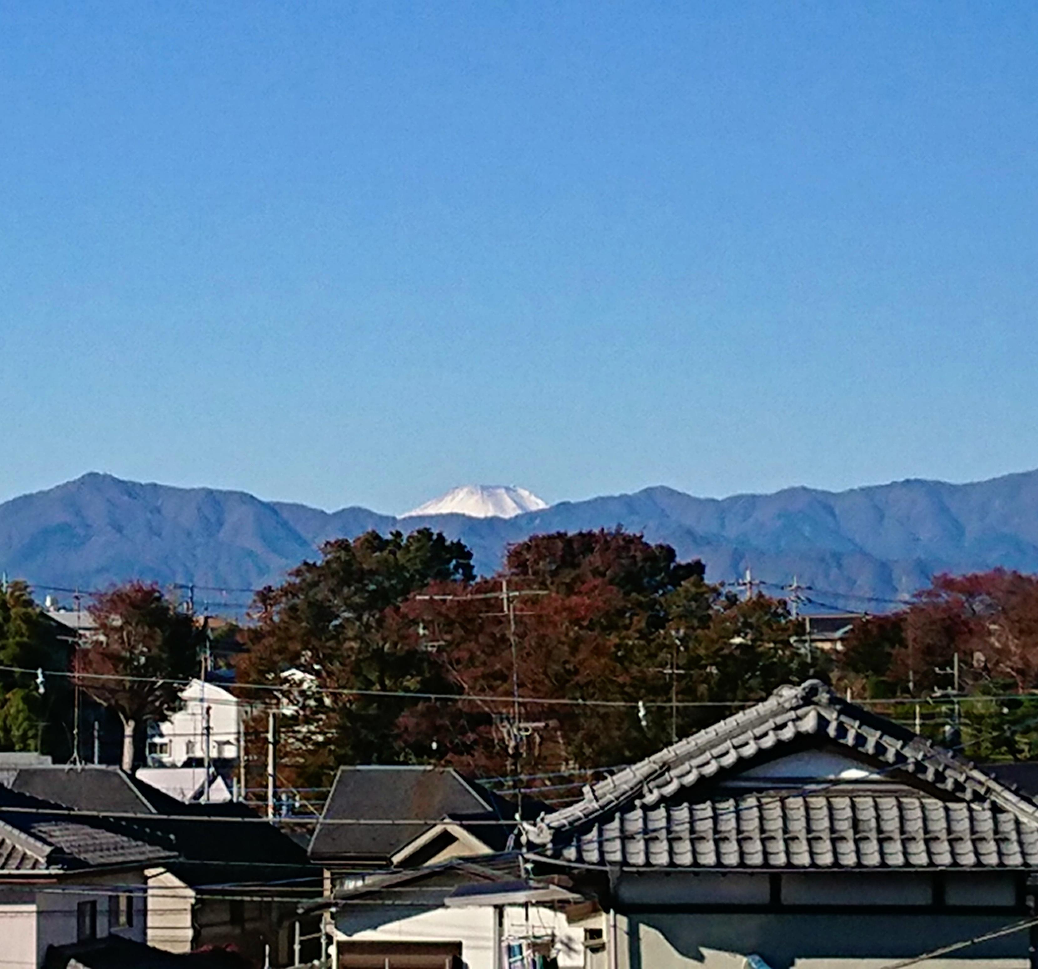自宅より富士山